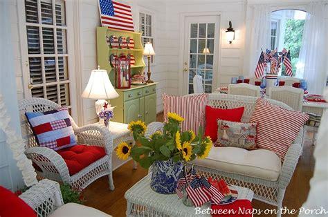 patriotic porch     july