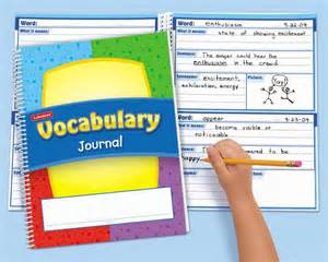 Vocabulary Journal Template for Elementary