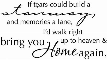 Funeral Tribute Stairway Quotes Grief Tears Could