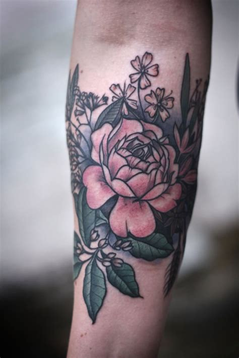 womens forearm floral sleeve tattoo google search