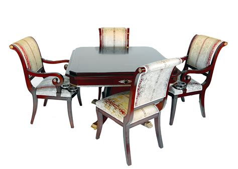 table and four chairs rosewood game table and four chairs set ebay