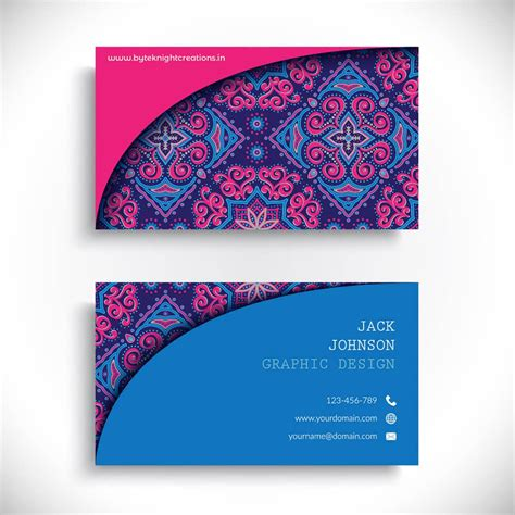 byteknight business card colorful business card design