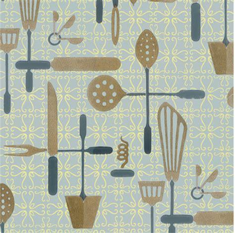 retro wallpaper kitchen currently craving kitchen utensil graphic patterns sweet kiera