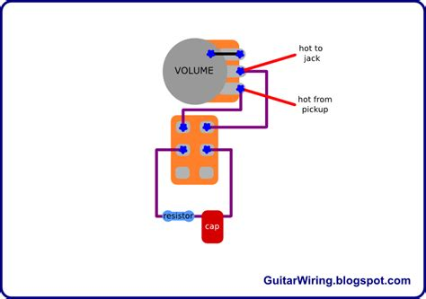 Tone Pot Wiring by The Guitar Wiring Diagrams And Tips Treble Bleed