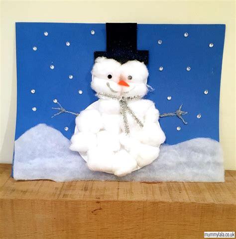 cotton wool snowman landscape christmas crafts snowman