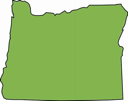 Oregon State Outline Map Svg Clip Blank