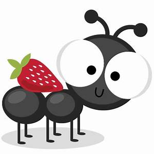 Ant With Strawberry SVG cutting files ant svg cuts ant ...