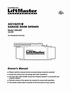 Chamberlain Liftmaster Professional 1 2 Hp Garage Door