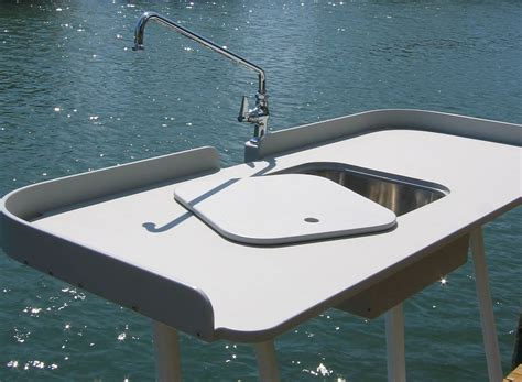 Aluminum Fish Cleaning Table With Sink by King Starboard Fish Cleaning Station 54 Quot X 23 Quot Top
