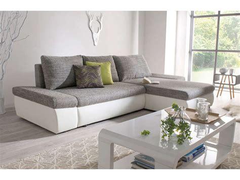 canape gris blanc conforama canapé d 39 angle convertible réversible strada coloris gris