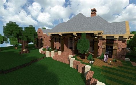 french acadian bungalow minecraft house design
