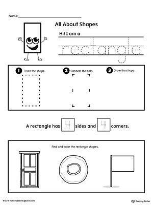 rectangle shapes shapes worksheets shapes