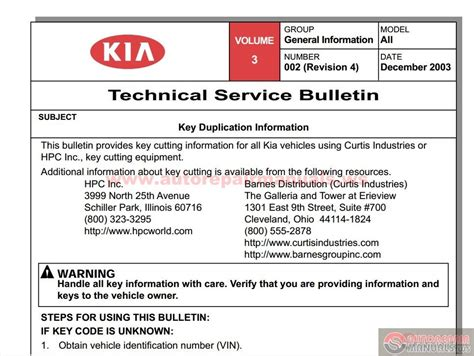 kia bc 2001 2005 technical service bulletin auto
