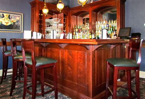 Hand Made Cherry Wood Bar By Furniture By Carlisle, Llc