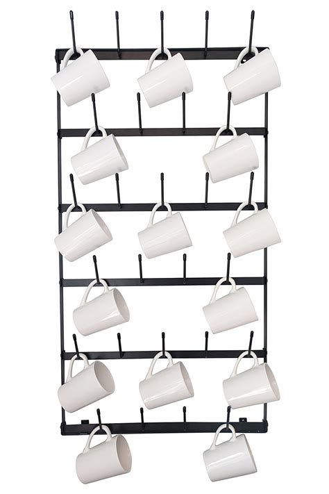 It measures 20″ x 12″ x 4 1/4″, which makes it the perfect size for that area between the kitchen counter and the cabinets in. The Best Mug Racks - Where to Buy Coffee Mug Racks