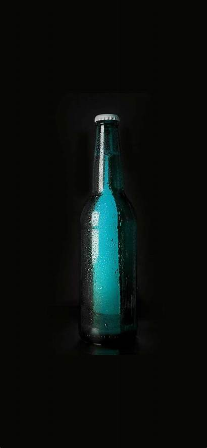 Iphone Wallpapers Dark Beer Bottle Oled Phone