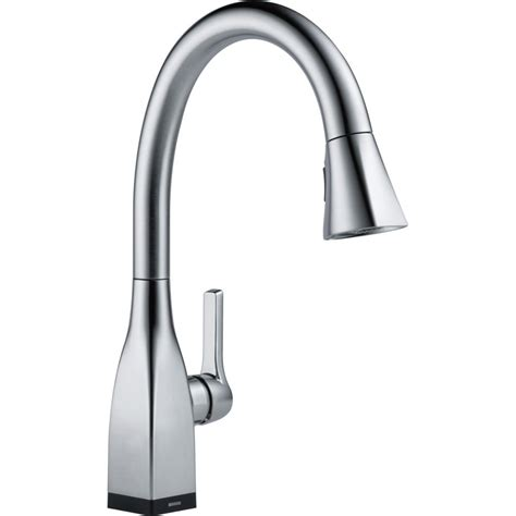 delta faucets kitchen delta faucet 9183t ar dst mateo arctic stainless pullout