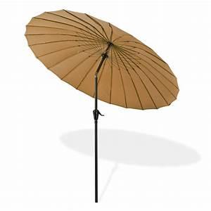 Sonnenschirm 2 M Durchmesser : sonnenschirm gartenschirm tokio rund 2 5 m braun ~ Markanthonyermac.com Haus und Dekorationen