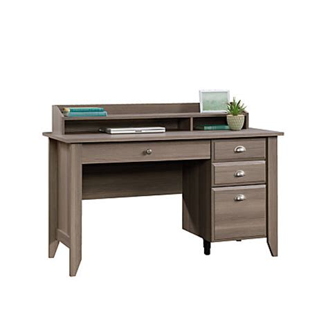 sauder shoal creek desk and hutch sauder shoal creek collection transitional wood desk with