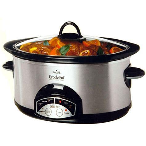 rival crock pot 6 quart oval programmable cooker