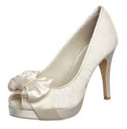wedding peep toe wedges