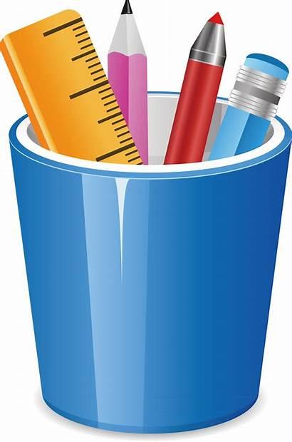 Pencil Pot Clip Clipart Jar Brush Pencils