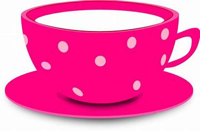 Cup Tea Clip Pink Clipart Cartoon Teacup