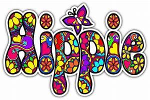 Hippie Peace Love Woodstock Life Car Bumper Vinyl Sticker ...