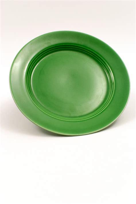 medium green harlequin pottery salad plate
