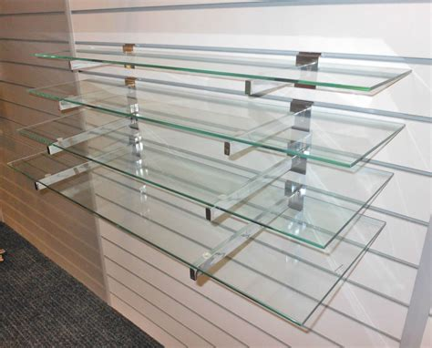 Glass Rack For Shop by 15 Photos Wall Mounted Glass Display Shelves Shelf Ideas