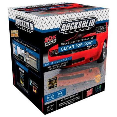 rust oleum rocksolid garage floor coating kit rust oleum rocksolid 1 gal clear polycuramine top coat