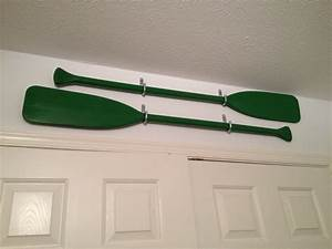 Oars as wall decor found these thrifting one day and
