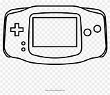 Gameboy Coloring Boy Advance Pngfind sketch template