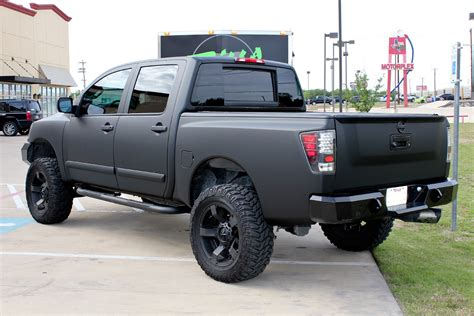 nissan trucks black nissan titan matte black vinyl wrap zilla wraps