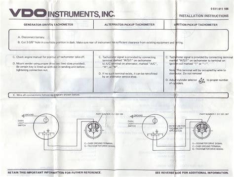 Vdo Tach Wiring Diagram by 1318 Tach O Graph Manuals 2019 Ebook Library