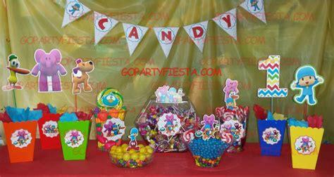 pocoyo birthday party candy table ideas  party fiesta