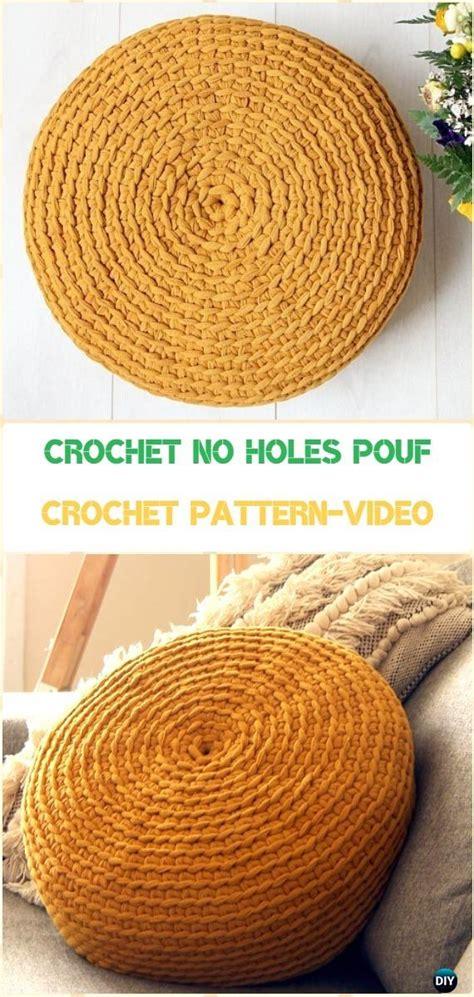 crochet poufs ottoman free patterns diy tutorials