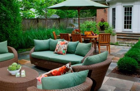 stylish wicker furniture great for patios and other
