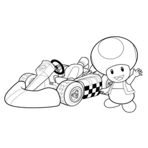 disegno  toad mario kart da colorare  bambini gratis disegnidacolorareonlinecom