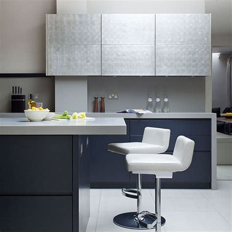 Island Ideas For Small Kitchen - modern blue black kitchen kitchen tour ideal home