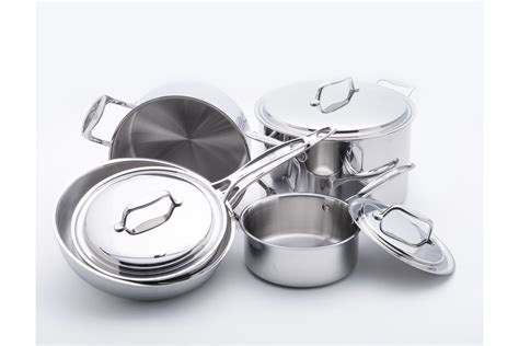 stainless cookware steel usa pan piece martha sets stewart everyday ply