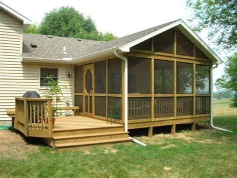 House Porches Designs Photo Gallery by Decks Screened In Porches Screened In Back Porch Ideas