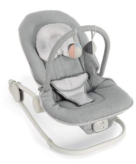 Wave Rocker Baby Bouncer Chair  Grey Melange Mamas