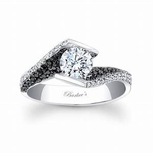 Barkev39s black diamond engagement ring 7879lbk for Black wedding rings with diamonds