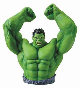 Green Hulk Arms Raised Bust Bank - Marvel Collectibles