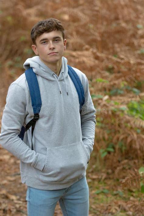 Year Old Teenage Boy Outside Stock Photo Image