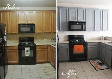 gray painted kitchen cabinets before and after kitchen before and after for the home kitchen cabinets