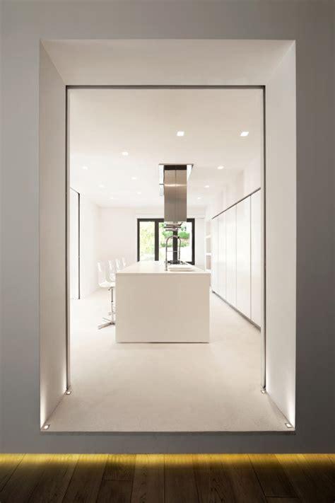 minimalist kitchen island white apartment 4143