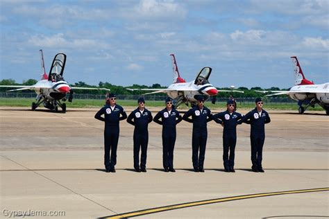 Thunderbirds pilots at Barksdale Air Show - photos by Ty ...