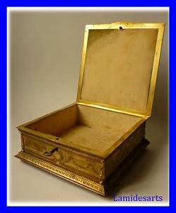 Coffret A Bijoux : coffret boite a bijoux bronze dore napoleon iii 1880 ~ Teatrodelosmanantiales.com Idées de Décoration
